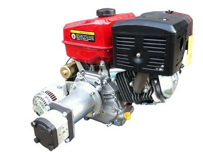 PTM390PRO Benzinmotor, E-Start, mit montierte Hydraulikpumpe (pumpgruppe 2) und 40A Stromaggregat